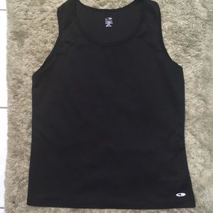 Black sleeveless activewear top